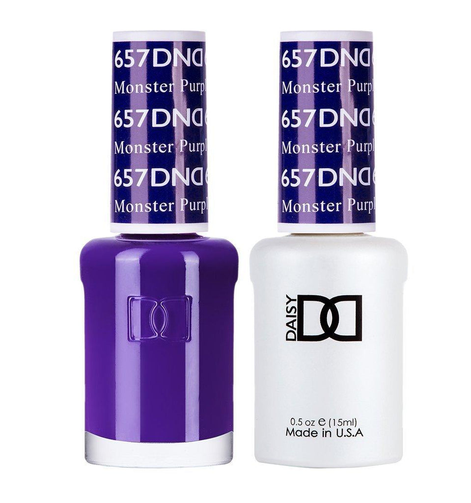 DND 657 Monster Purple - DND Gel Polish & Matching Nail Lacquer Duo Set - 0.5oz