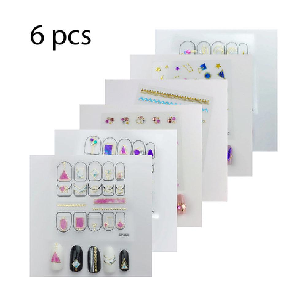 3D Nail Sticker - SP181, SP083, SP180, SP056, SP049, SP143 ( 6 sheets )
