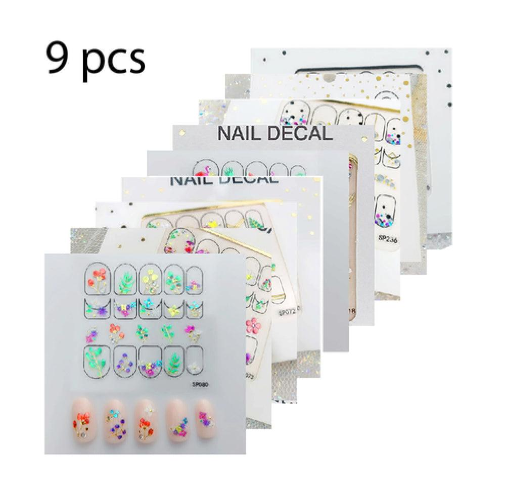 3D Nail Sticker - SP236, SP076, SP318, SP073, SP080, SP235, SP072, SP070, SP067 ( 9 sheets )