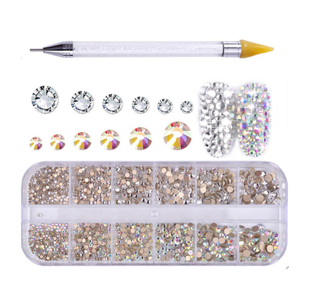 Rhinestones For Nail Art 4 + Dual-ended Dotting Pen