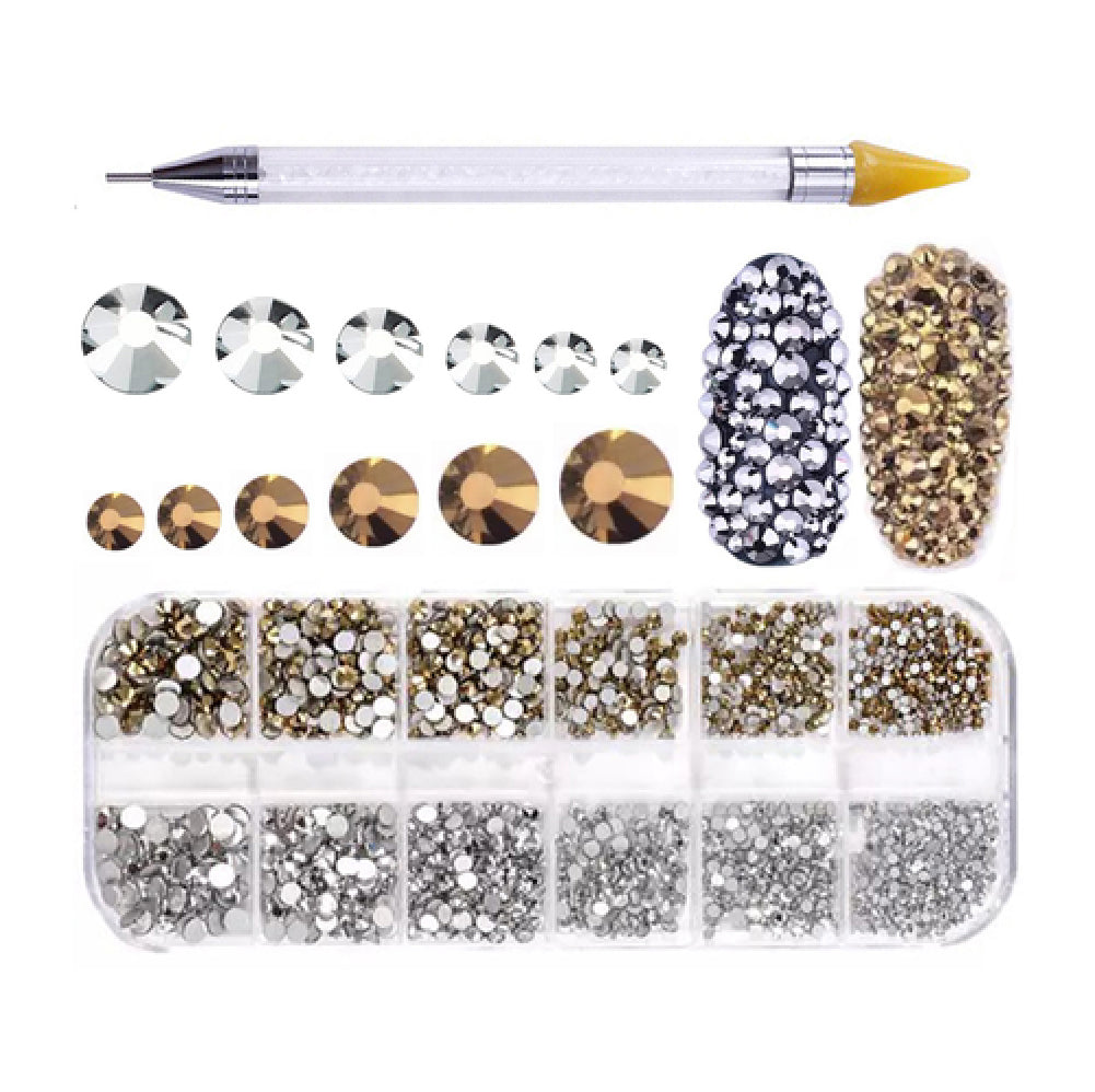 Rhinestones For Nail Art 5 + Dual-ended Dotting Pen