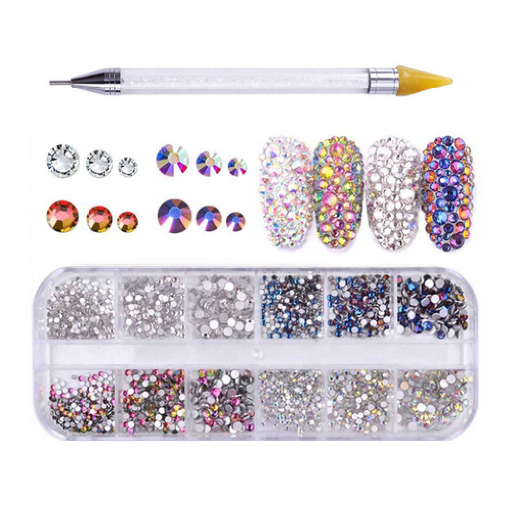 Rhinestones For Nail Art 7 + Dual-ended Dotting Pen