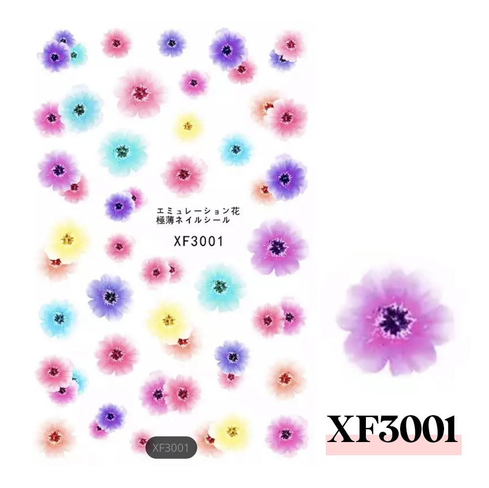 3D Nail Sticker-XF3001