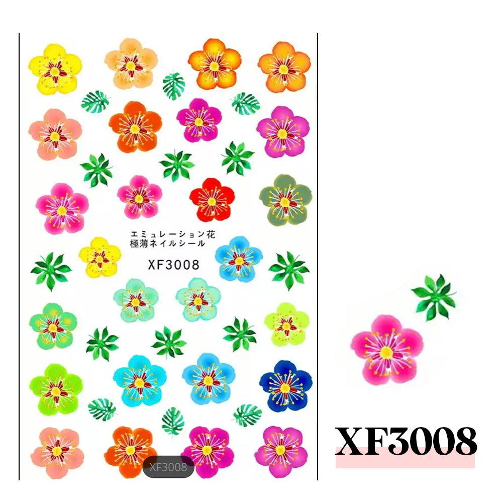 3D Nail Sticker-XF3008