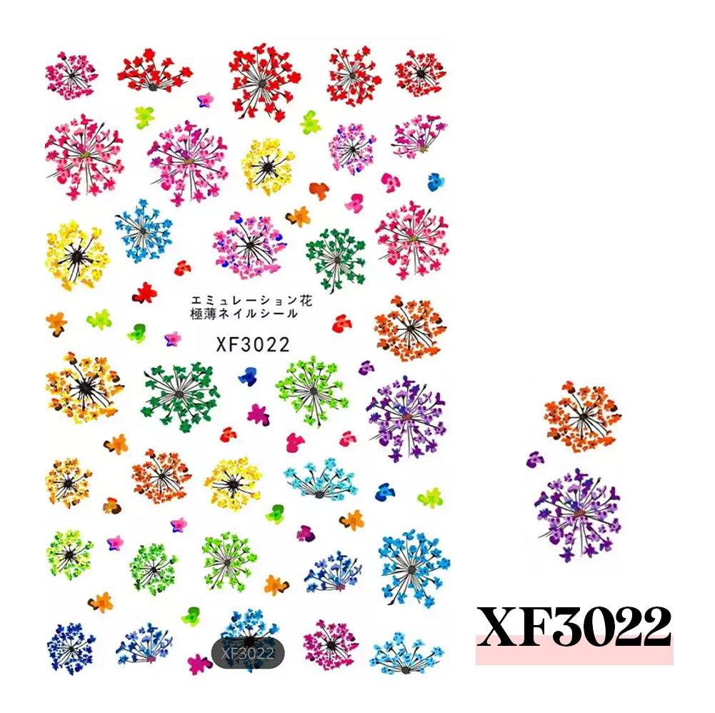 3D Nail Sticker-XF3022