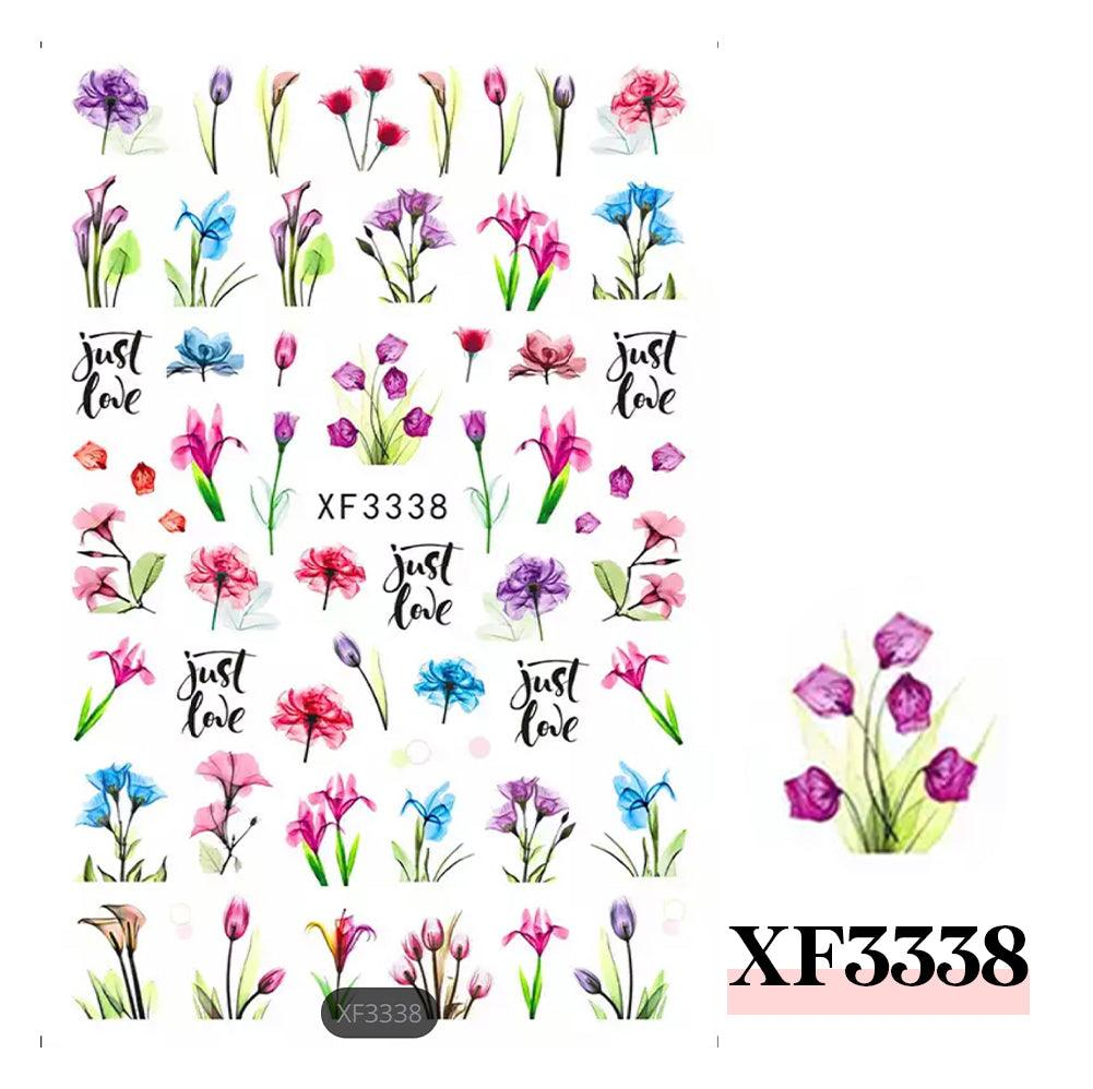 3D Nail Sticker-XF3338