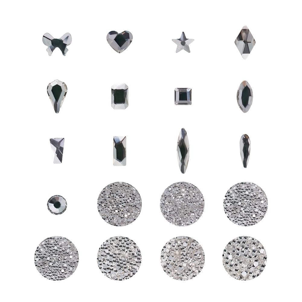 Multi-Sized and Multi-Shaped Rhinestone Set with Dotting Pen - Set E