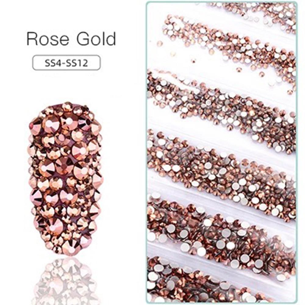 LDS Rhinestones For Nail Art 3 - Rose Gold
