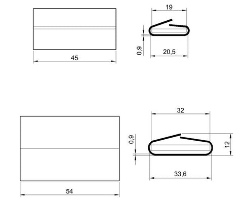 steel strapping seal drawing