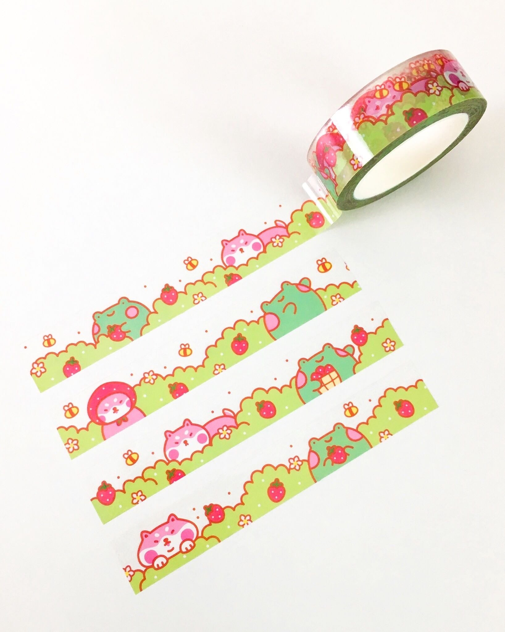 Strawberry Garden Clear Tape