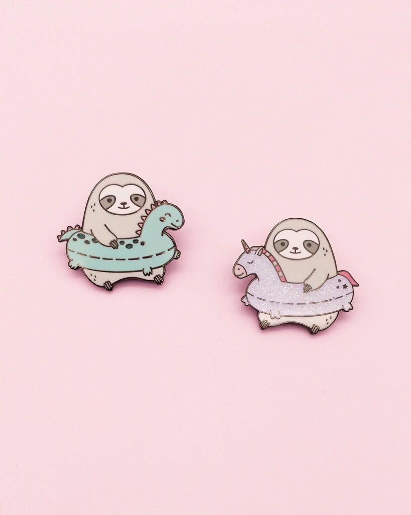 Sloth Pool Float Pins