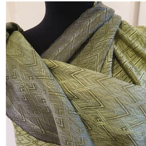 Handwoven Wrap in 20/2 hand dyed silk,-Original Design