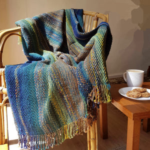 Hand Woven Throw 70% wool with accents of mohair and viscose