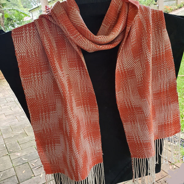 Twill  Silk and Cotton Scarf