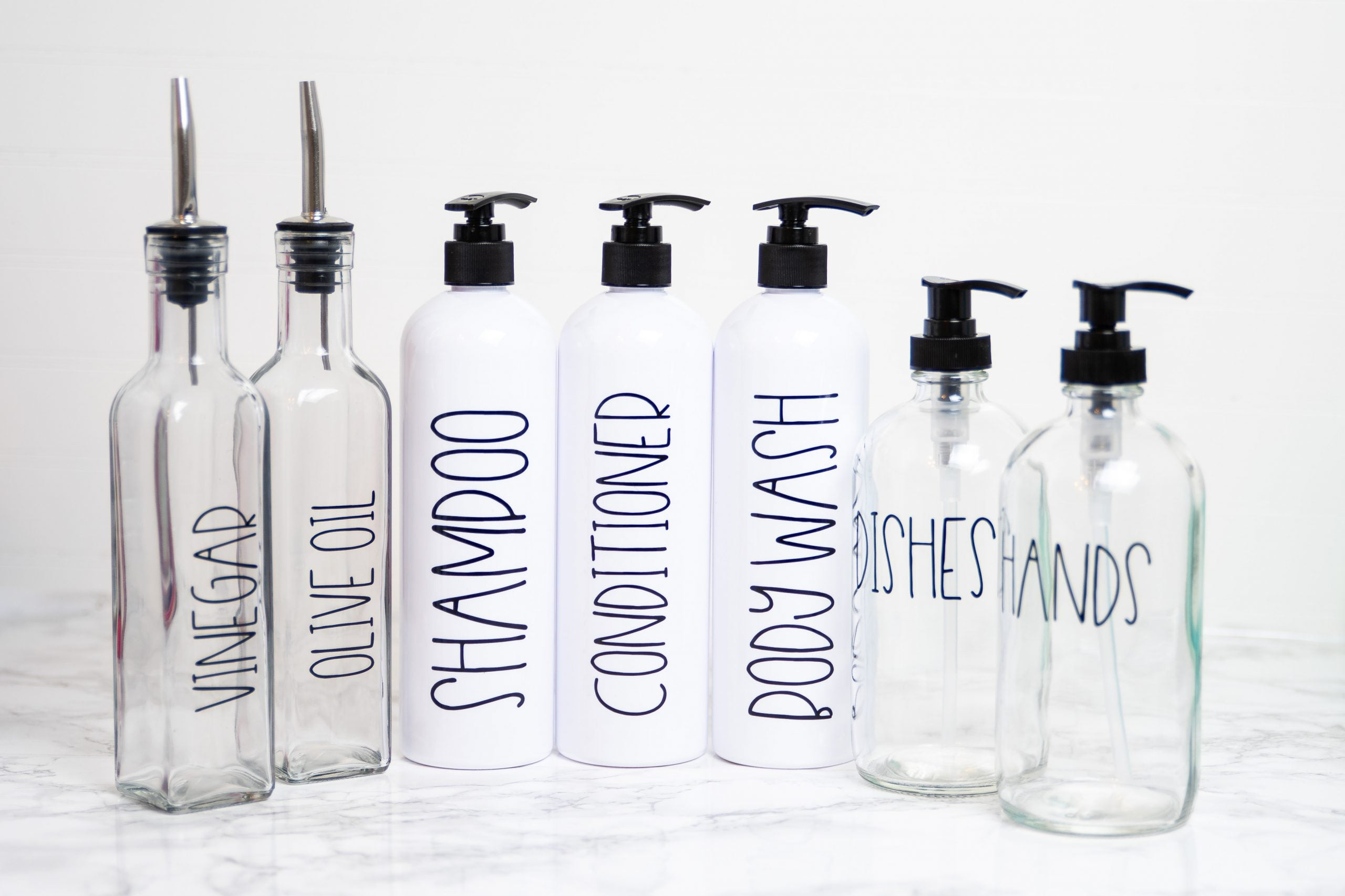 Farmhouse Bottle Bundles - White