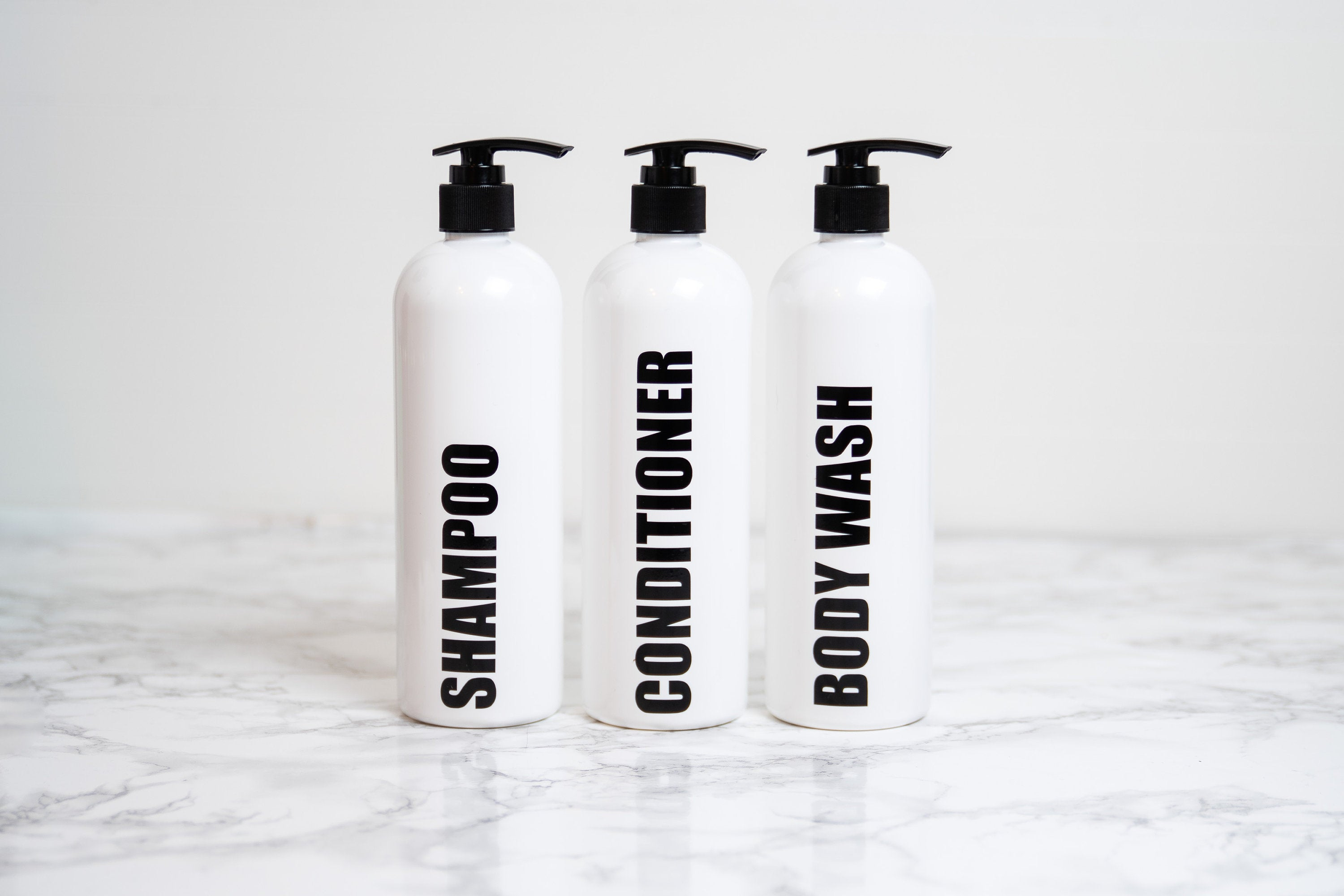 Minimalist Bathroom Accessories, Bathroom Shower Sets, Custom Shampoo and Conditioner Bottles, Shampoo Dispenser Plastic