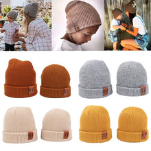 Load image into Gallery viewer, 9 Colors S/L Baby Hat for Boy Warm Baby Winter Hat for Kids Beanie Knit Children Hats