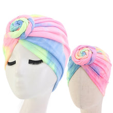 Load image into Gallery viewer, Turban Hat Mommy and kids Cap with Big Bow Soft Cute Knot Nursery Beanie headband