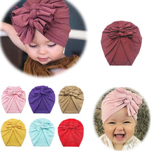 Load image into Gallery viewer, Toddler Cotton Print Stretchy Turban Headband and Beanie