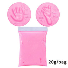 Load image into Gallery viewer, Soft Clay DIY Newborn Baby Souvenirs Hand Print Footprint Non-toxic Clay Kit Casting Parent-child Hand Ink Pad Fingerprint Toys
