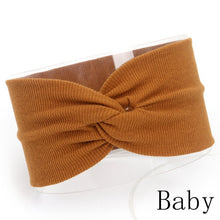 Load image into Gallery viewer, Baby Headband Mommy Twist Hairband For Women Girls Turban Mother Daughter Hair Accessories Cotton Newborn Head Wrap 2pcs/Set