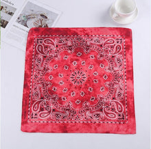 Load image into Gallery viewer, Single - Vintage Bohemia Print Bandana Hair Bands for Girls  Women Headband Scarf  Face Mask Cross Turban Bandanas Headwear 55cmX55cm
