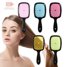 Load image into Gallery viewer, Professional Hair Massage Comb Salon Hair Care Styling Anti Tangle Anti-static Hairbrush Head Massager Girls Ponytail Comb