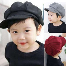 Load image into Gallery viewer, New Baby Hat for Boys Vintage Newsboy Kids Cap Baby Boys Hat Autumn Winter Baby Cap for Boy Children Hats