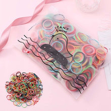 Load image into Gallery viewer, 100 Pcs Colorful Scrunchies Girls Elastic Rubber Bands Hair Bands Kids Baby Headband Cute Ponytail Holder Hair Accessories