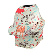Load image into Gallery viewer, Cartoon Printed Nursing Cover Baby Shopping Chart Multi function Breastfeeding Covers Newborn Baby Car Seat Cover