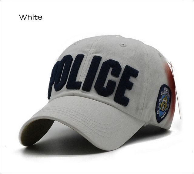 Children Police Baseball Cap Kids Boys Girls Snapback Hats Casual  Adjustable