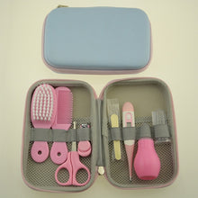 Load image into Gallery viewer, 8Pcs/set Portable Baby Nail Clipper Comb Brush Set Infant Grooming Care Nail Clippers Comb Hair Brush Kit
