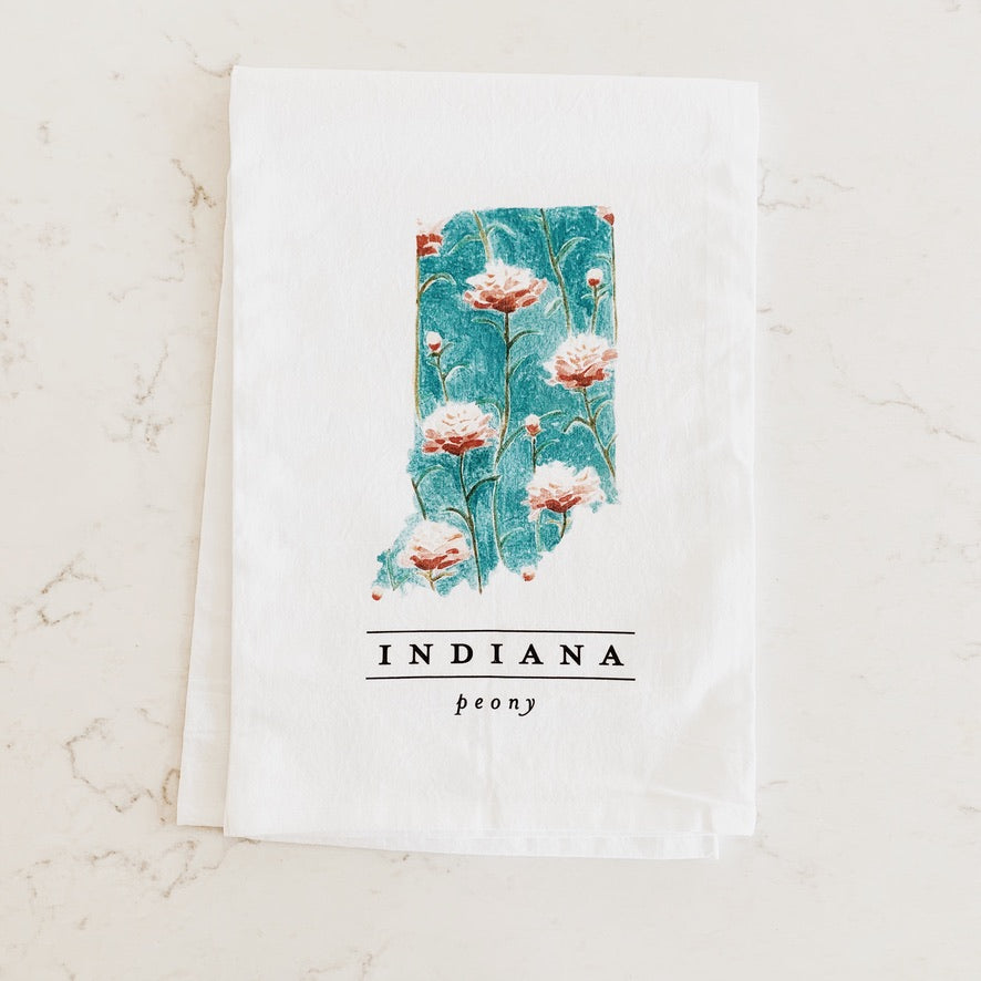 State Flower Tea Towels