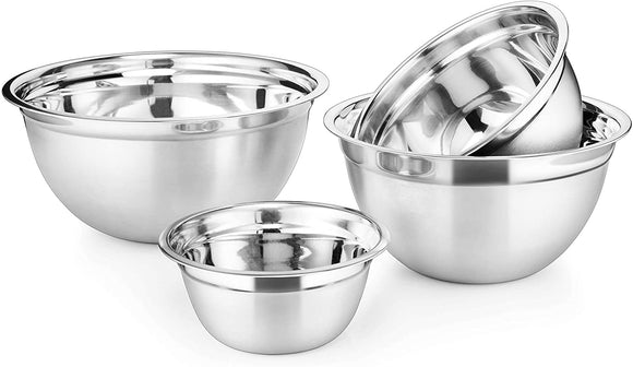 Stainless Steel German Mixing Bowls Set of 4