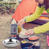 Stainless Steel Camping Plate Set of 4