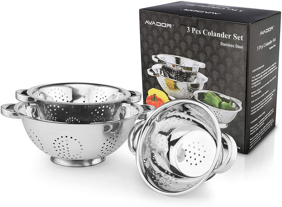 Stainless Steel Colander Set of 3