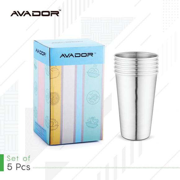 Stainless Steel Tumblers 16oz Set of 5