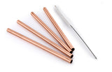 Set of 4 100% Pure Copper Reusable Moscow Mule Straws