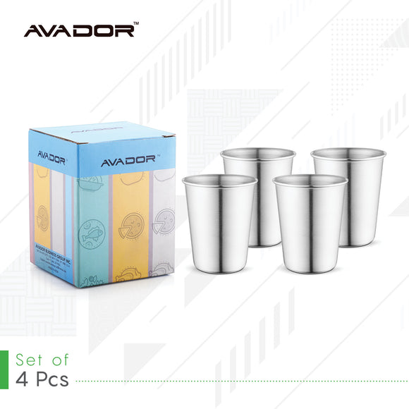 Stainless Steel Tumbler 8oz Set of 4