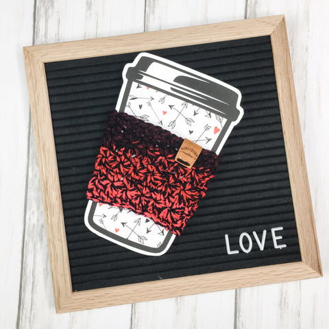 Be Mine Hot Cup Cozy