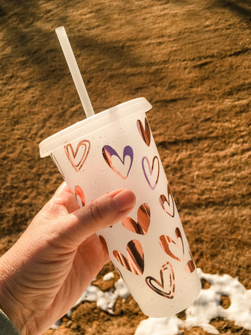 Heart 24 oz Cold Cup