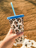 Leopard Print Cold Cup