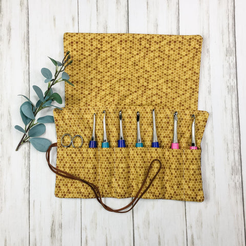 Crochet Hook Roll Full Flap