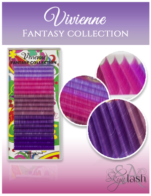 Vivienne Fantasy LILAC SYMPHONY Colors .10 C CURL fullsize single length tray 20 lines - The Lash Shop @ StellaLash