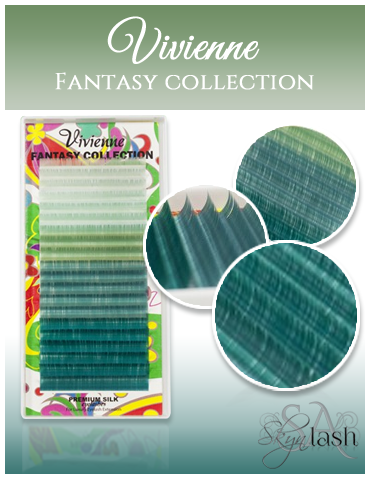 Vivienne Fantasy OCEAN MYSTERY Colors .10 C CURL fullsize single length tray 20 lines - The Lash Shop @ StellaLash