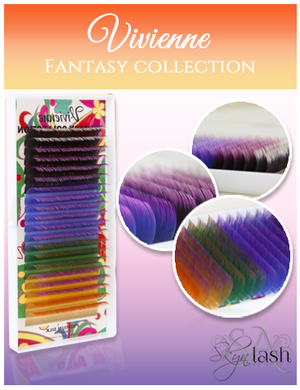 Vivienne Fantasy OMBRE TwoTone  Mix Colors Tray - The Lash Shop @ StellaLash