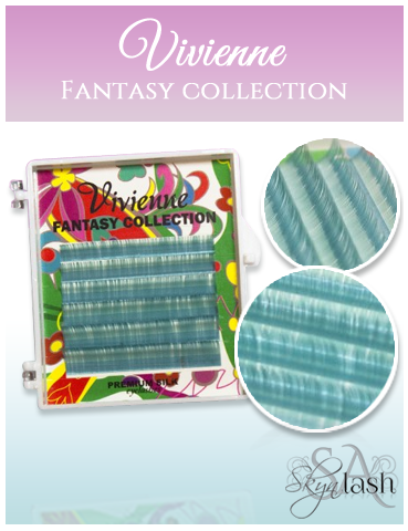 Vivienne Fantasy OCEANBLUE Colors .07 Volume Mini Trays - The Lash Shop @ StellaLash