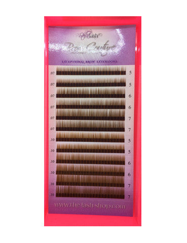 Stella Brow Extensions BROWN Mix - The Lash Shop @ StellaLash