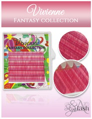 Vivienne Fantasy PINK Color .07 MIXED size 8mm - 13mm Volume Mini Trays - The Lash Shop @ StellaLash