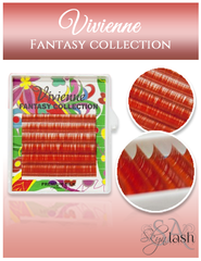 Vivienne Fantasy POMEGRANTE Color .07 C CURL MIXED size 8mm - 13mm Volume Mini Trays - The Lash Shop @ StellaLash